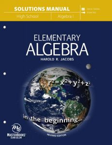 Elementary Algebra (Solutions Manual - Download)