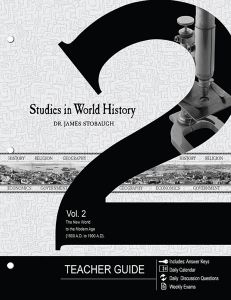 Studies in World History Vol. 2 (Teacher Guide - Scratch & Dent)