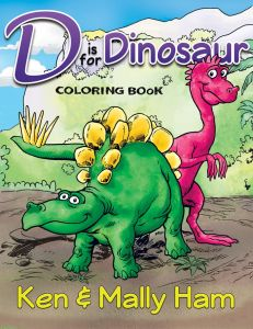 D is for Dinosaur Coloring Book