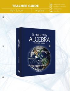 Elementary Algebra (Teacher Guide)